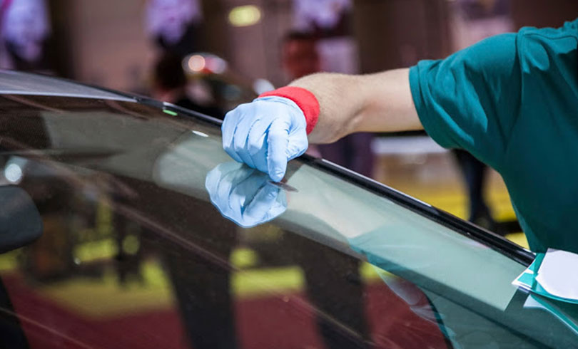 repairing scratched car glass