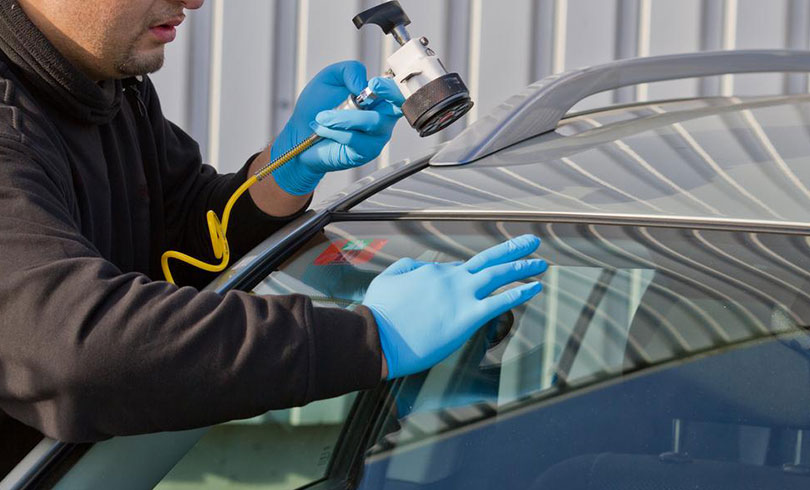 fixing chipped windshield