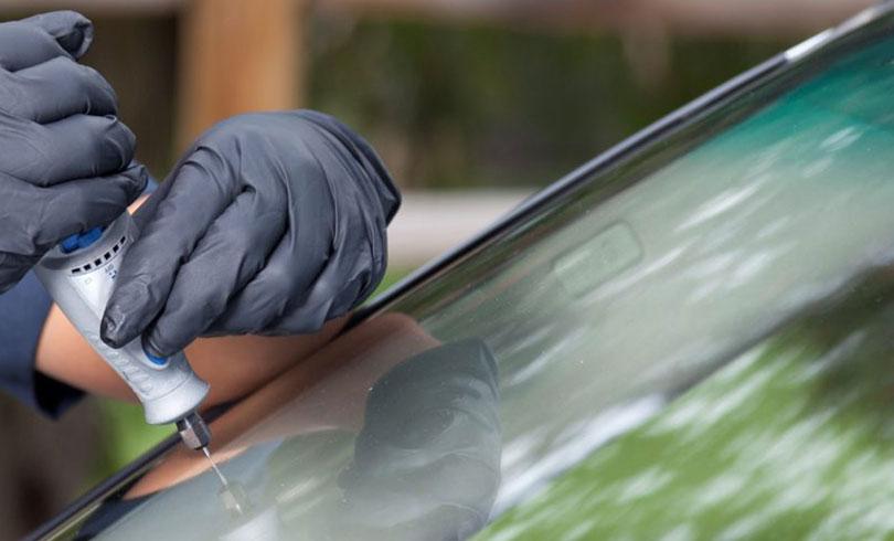 repair a chip on car glass